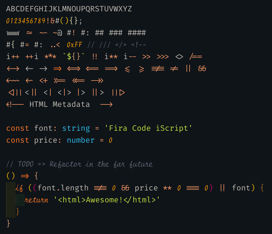 The finest (and free) ligature code fonts - Andreas Rein